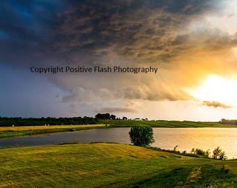 Sunset landscape photography landscape photo sunset art printable wall art photography storm photography digital download digital prints