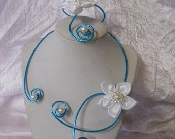 Set of wedding or bridesmaid turquoise aluminum