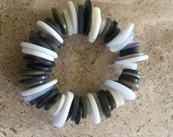 Chunky Black and White Bracelet