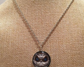 JACK skeleton skull cabochon necklace