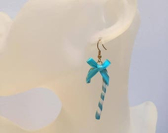 Earrings polymer clay cane
