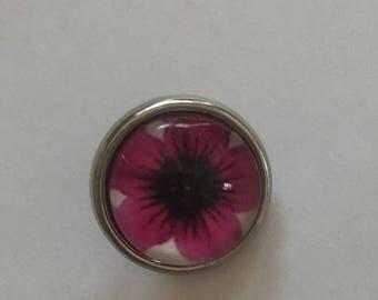 Snap 1.2 cm Flower Pink
