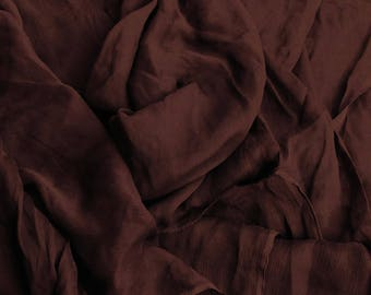 4 10mx1 25 m chiffon creponnee couture chocolate color