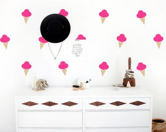 Ice cream Wall Decals-Icecream Wall Decal-Nursery wall decals-Ice cream Wall Stickers-Dorm decor-Kids room decor-Nursery decals-Home decor