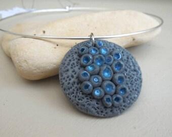 Imitation stone and Lunar blue asteroids Choker