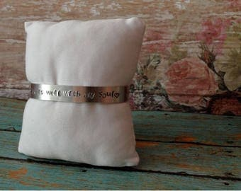 It Is Well With My Soul, Hand-Stamped Bracelet, Personalized Bracelet, Custom Jewelry, Unique Gift