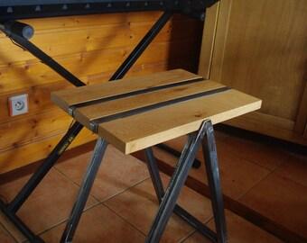 """Stool """"balance"""" wood and iron"""