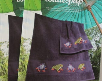 130 frog cross stitch book RICO collection