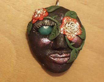 Face of Flowers pendant