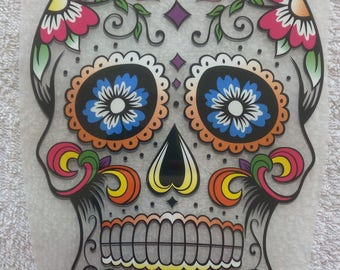 skull new age to transfer on fabric
