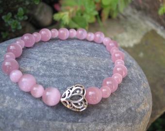 Pink cat eye Beads Bracelet