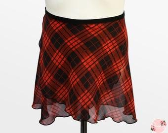 Tatiana - Ballet Wrap Skirt - Ballet Skirt - Dance Skirt - Tartan Ballet Skirt - Flourish Dancewear