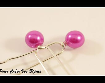 Set of 5 hair pins and a pearl purple 8 mm