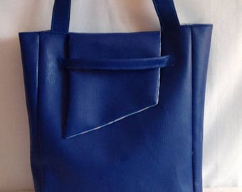 Faux blue flashy shape bag envelope.