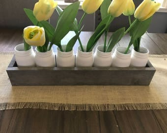 Planter Wood Box Centerpiece, Wood Box Centerpiece, Rustic Wood Box Centerpiece, Window Ledge Wood Box, Rustic Holiday Wood Box,