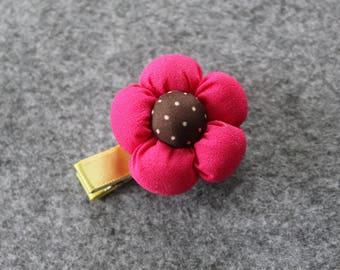 Small flower hair clip - Alligator Clip.