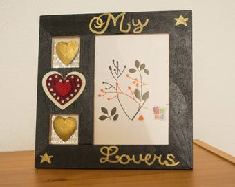 """My Lovers"" square picture frame"