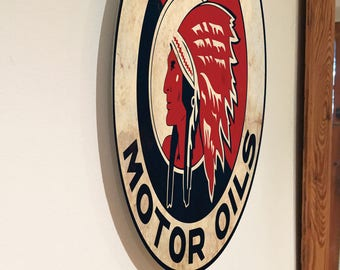 Superb look VINTAGE signs OIL/PETROL/Fuels on Aluminium* Ready to Hang!