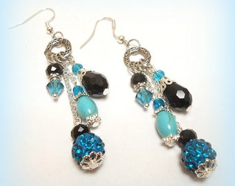 "Silver earrings ""Light blue!"""