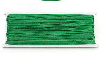 ONE METER OF THREAD FOR SOUTACHE APPROXIMATELY 3.0 MM COLOR GREEN