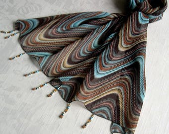Scarf - scarf & pearls REF. pattern 220 - waves