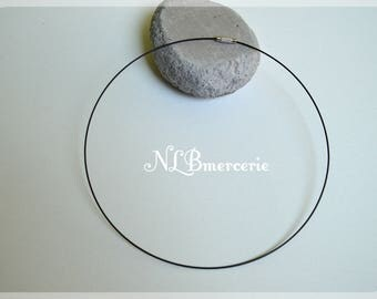 Set of 2 necklaces neck rigid metal cable - 14 cm - several colors