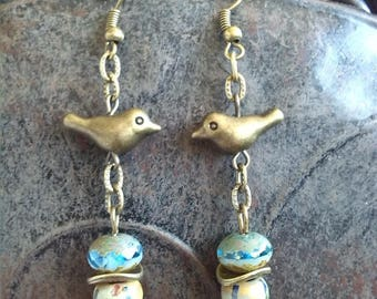 """Reflections of water and nature earrings """"Charms"""""""