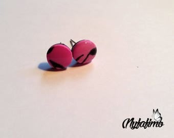 """""""Music"""" earrings with round polymer clay"""