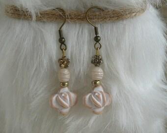 """""""Morning Rose"""" earrings"""