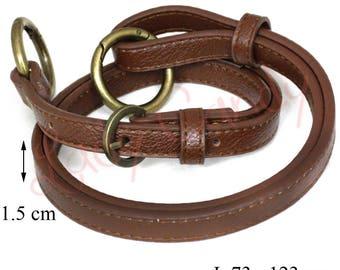 Anse de sac en simili cuir marron foncé réglable #330072