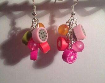 Fruit charms earrings