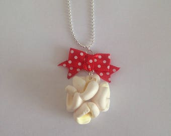 Polymer clay popcorn necklace