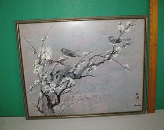 Three's Company by Chiu Weng Watercolor on Casein & Cork 1978 16x20