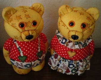 polystyrene bear embedded fabric