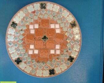 Mid Century Mosaic Tile Dish