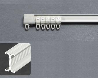 Maxi-Rail curtains Cintrable hand - finish white - ceiling fixtures - 150 cm complete Set