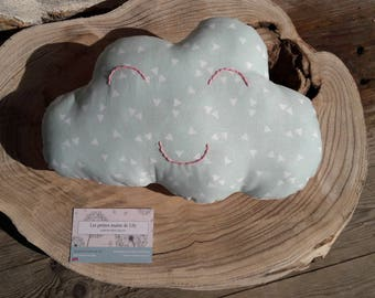 Nice two-tone smile cloud pillow
