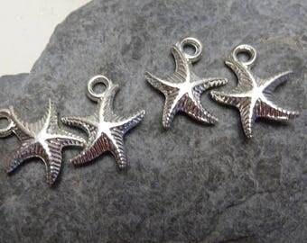 4 star Sea 3D double sided charm 0.9 cm Navy sailor was