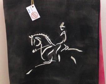 Handmade and Hanpainted Dressage bag