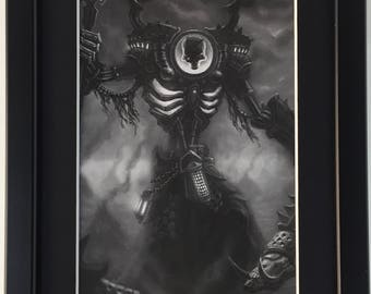 Warmachine Hordes Privateer Press P3 Framed Art Cryx Asphyxious The Hellbringer Warcaster Solo
