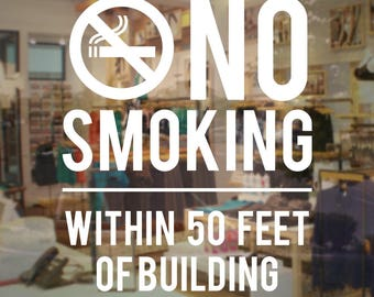 Store Business No Smoking Sign - Vinyl Decal