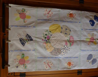 handcrafted blanket hand made with appliqué