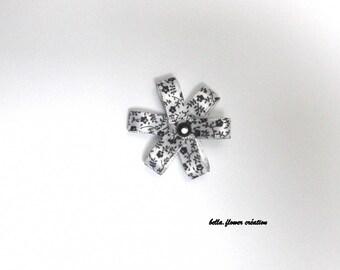 Interleave for creation flower black/white 4cm