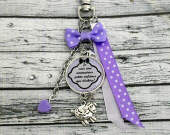Key animator childhood cabochon personalised bag charm keychain