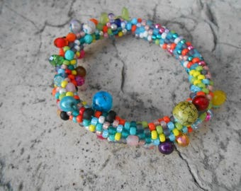 NEW: Grappolo colors No. 1 beaded Bracelet