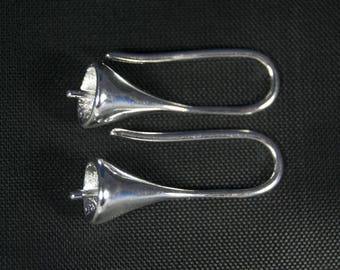 Trumpet earring in 925 Silver, 22 * 12 * 7 mm, the pair