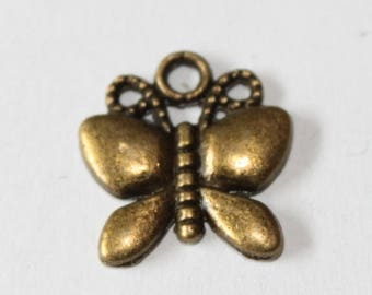 charm bronze butterfly, 18 * 17 mm, set of 5 mm