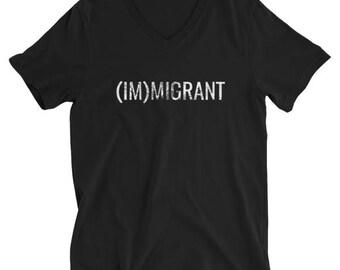 THE (IM)MIGRANT V-Neck | Men's Political Tee | Men's V-Neck