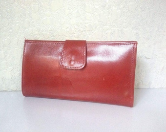 Womens goat leather wallet with Credit card and ID holder