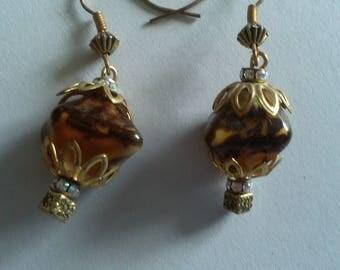 multicolored Brown earrings